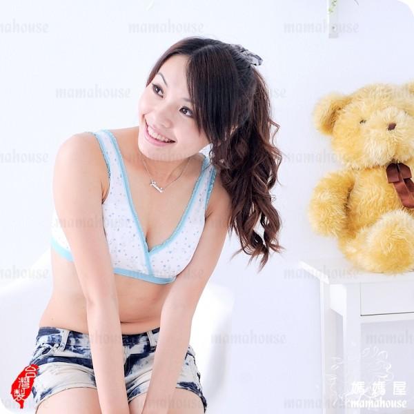 背心式交叉哺乳內衣.送溢乳墊.愛心B669》台灣製.運動風無鋼圈哺乳胸罩